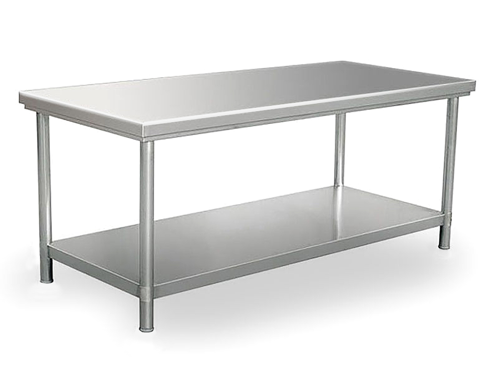 stainless steel bench 180cm x 80cm 01